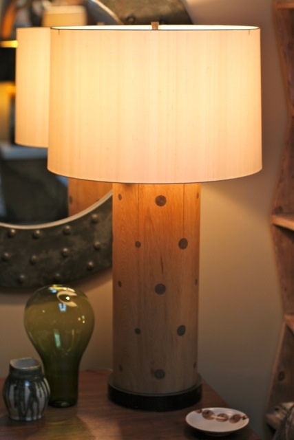 Lamp, Wood, shagreen